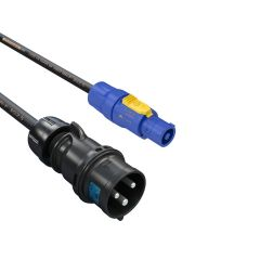 16A Plug to Blue Pcon  3x 2.5mm 1M