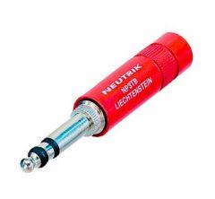 NP3TB-R 1/4″ B-gauge stereo jack plug red