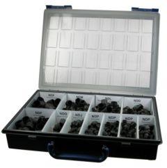 Dummy plug case – mixed assortment of dummy plugs