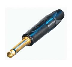 NP2X-B 1/4″ mono jack slimline plug black & gold