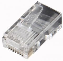 RJ45 Cat 5E screened crimp plug